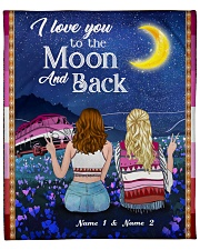 I Love You To The Moon And Back Valentine Fleece Blanket tile