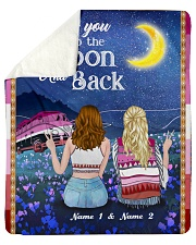I Love You To The Moon And Back Valentine Sherpa Fleece Blanket tile