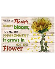 When A Flower Doesn't Bloom 17x11 Poster front