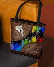 Love Is Love Leather Pattern Print  All-over Tote aos-all-over-tote-lifestyle-front-02