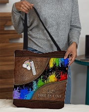 Love Is Love Leather Pattern Print  All-over Tote aos-all-over-tote-lifestyle-front-10