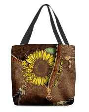 Autism Awareness Leather Pattern Print  All-over Tote back