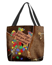 Don't judge what you don't understand All-over Tote front