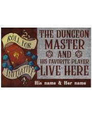 """The dungeons master Doormat 22.5"""" x 15""""  front"""