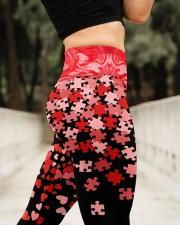 Autism Awareness Valentine High Waist Leggings aos-high-waist-leggings-lifestyle-11