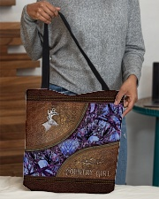 Country Girl Leather Pattern Print  All-over Tote aos-all-over-tote-lifestyle-front-10