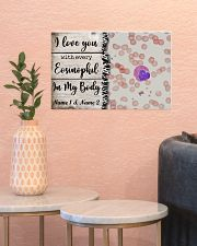 I Love You With Every Eosinophil Personalize 17x11 Poster poster-landscape-17x11-lifestyle-21