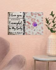 I Love You With Every Eosinophil Personalize 17x11 Poster poster-landscape-17x11-lifestyle-22