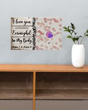I Love You With Every Eosinophil Personalize 17x11 Poster poster-landscape-17x11-lifestyle-24