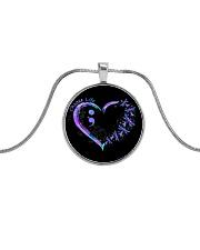 Choose life Metallic Circle Necklace tile