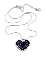 Choose life Metallic Heart Necklace aos-necklace-heart-metallic-lifestyle-03