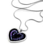 Choose life Metallic Heart Necklace aos-necklace-heart-metallic-lifestyle-05