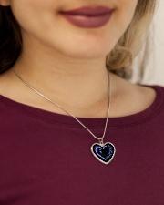 Choose life Metallic Heart Necklace aos-necklace-heart-metallic-lifestyle-1
