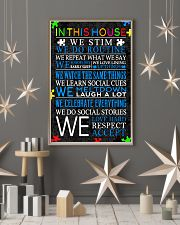 In This House We Never Give Up 11x17 Poster lifestyle-holiday-poster-1