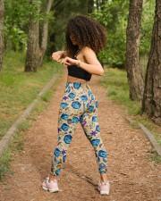 Colorful dice High Waist Leggings aos-high-waist-leggings-lifestyle-17