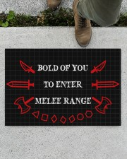 """Bold of you to enter Doormat 22.5"""" x 15""""  aos-doormat-22-5x15-lifestyle-front-01"""