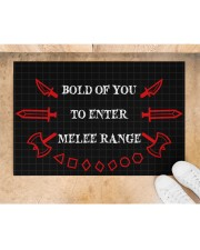 """Bold of you to enter Doormat 22.5"""" x 15""""  aos-doormat-22-5x15-lifestyle-front-05"""