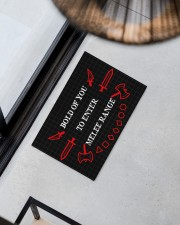 """Bold of you to enter Doormat 22.5"""" x 15""""  aos-doormat-22-5x15-lifestyle-front-08"""