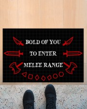 """Bold of you to enter Doormat 22.5"""" x 15""""  aos-doormat-22-5x15-lifestyle-front-10"""
