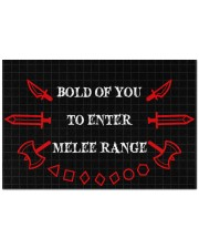 """Bold of you to enter Doormat 22.5"""" x 15""""  front"""