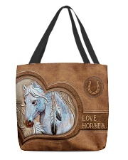 Love Horses Leather Pattern Print All-over Tote back