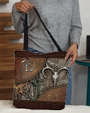 Hunting leather pattern print All-over Tote aos-all-over-tote-lifestyle-front-10