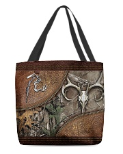 Hunting leather pattern print All-over Tote front