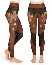 Don't judge Leather Pattern Print High Waist Leggings front