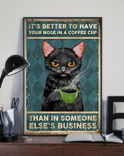It's Better To Have Your Nose In A Coffee Cup 11x17 Poster lifestyle-poster-2