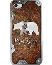 Papa Bear Metal Pattern Print Phone Case i-phone-8-case