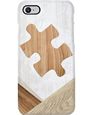 Autism Awareness Faux Wood Print Phone Case i-phone-8-case