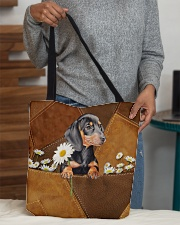 Lovely Dachshund Leather Pattern Print All-over Tote aos-all-over-tote-lifestyle-front-10