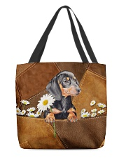 Lovely Dachshund Leather Pattern Print All-over Tote back