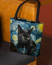 Black cat starry night All-over Tote aos-all-over-tote-lifestyle-front-02