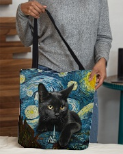 Black cat starry night All-over Tote aos-all-over-tote-lifestyle-front-10