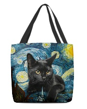Black cat starry night All-over Tote back