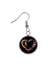 Never Give Up Circle Earrings tile