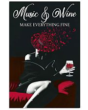 Music And Wine Make Everything Fine 11x17 Poster front