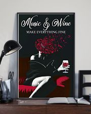 Music And Wine Make Everything Fine 11x17 Poster lifestyle-poster-2