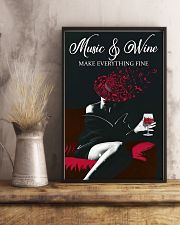 Music And Wine Make Everything Fine 11x17 Poster lifestyle-poster-3