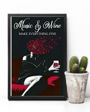 Music And Wine Make Everything Fine 11x17 Poster lifestyle-poster-8
