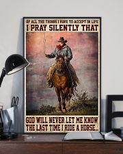 Never Let Me Know The Last Time I Ride A Horse 11x17 Poster lifestyle-poster-2