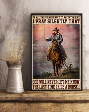Never Let Me Know The Last Time I Ride A Horse 11x17 Poster lifestyle-poster-3