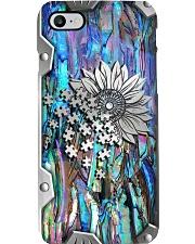 Autism Piece Metal Print Pattern Phone Case i-phone-8-case