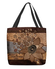 Accept Understand Love Leather Pattern Print All-over Tote back