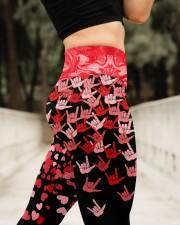 I Love You Hand Sign Valentine High Waist Leggings aos-high-waist-leggings-lifestyle-11