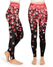 I Love You Hand Sign Valentine High Waist Leggings front