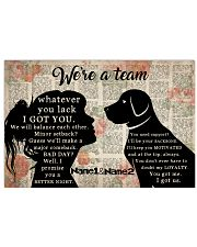 We're A Team Valentine 17x11 Poster front