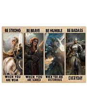 Be Strong Be Brave 17x11 Poster front