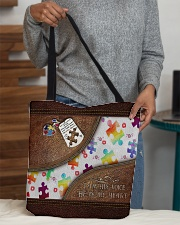I'm His Voice He's My Heart Leather Pattern Print All-over Tote aos-all-over-tote-lifestyle-front-10